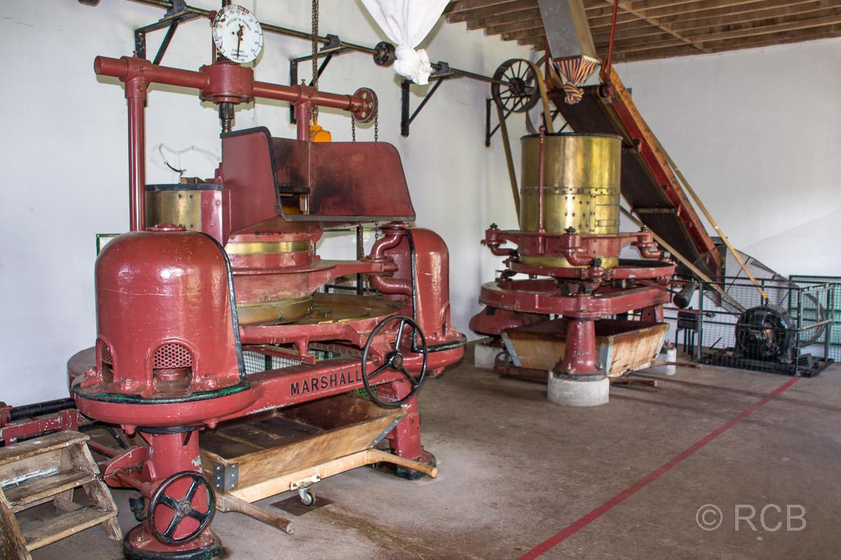 Maschinen in der Teefabrik Cha Gorreana
