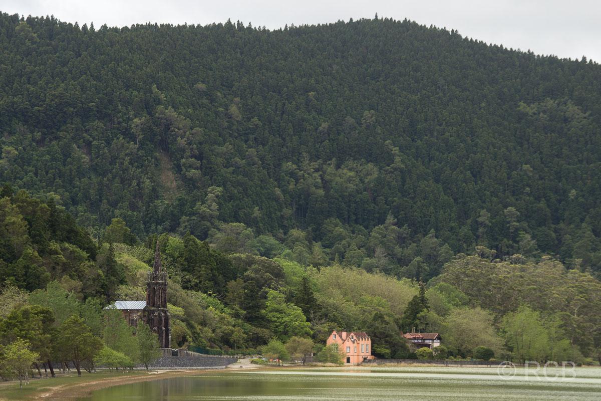 neugotische Kapelle an der Lagoa das Furnas