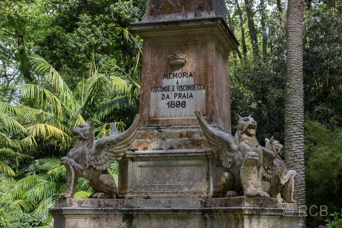 Gedenksäule im Parque Terra Nostra