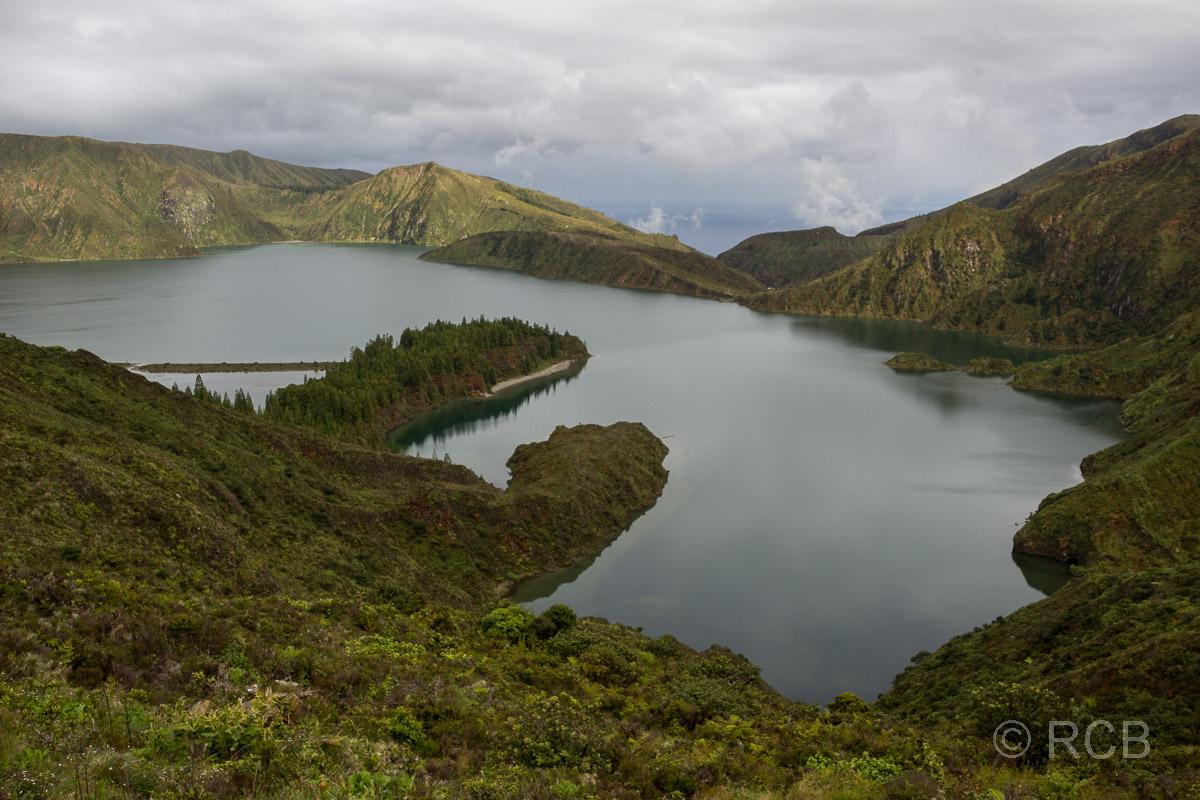 Blick über die Lagoa do Fogo