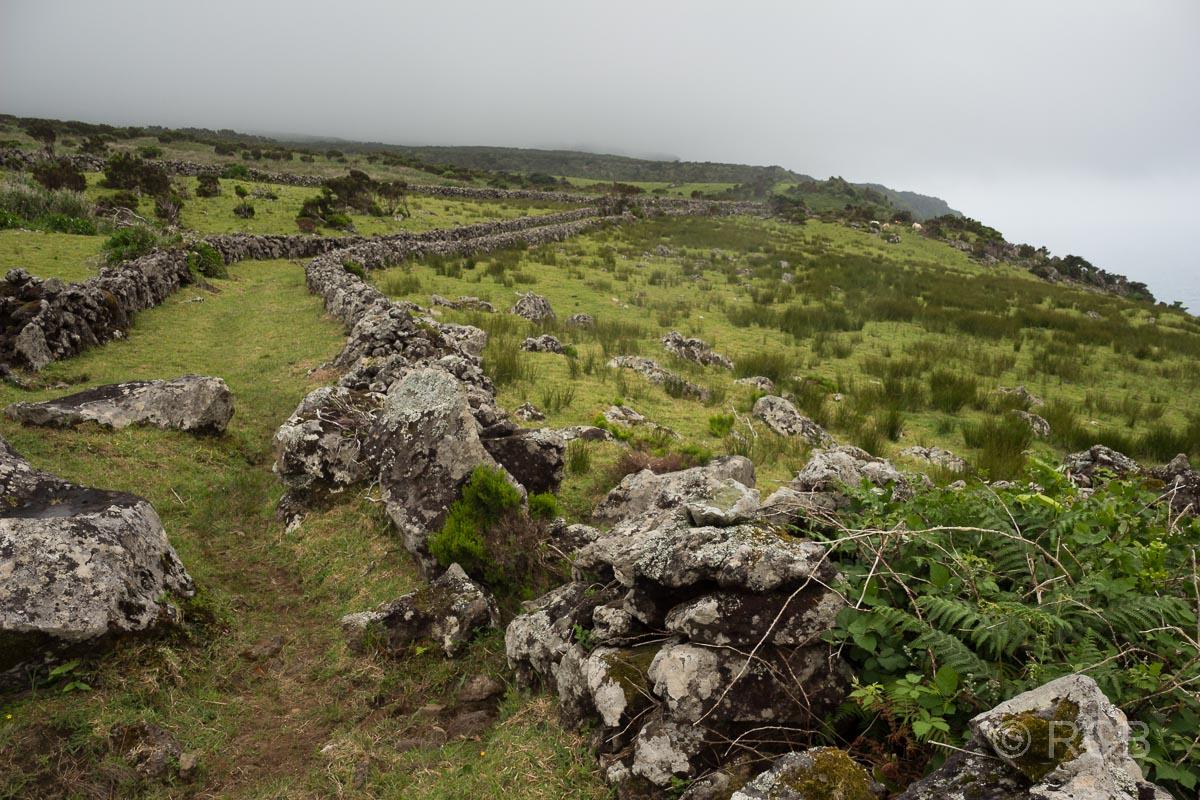 von STeinmauern eingefasster Weg auf dem PR1FLO