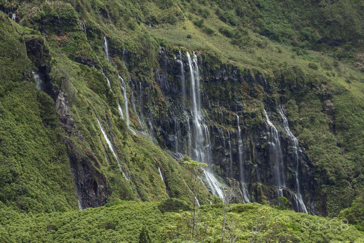 Wasserfälle bei Fajã Grande
