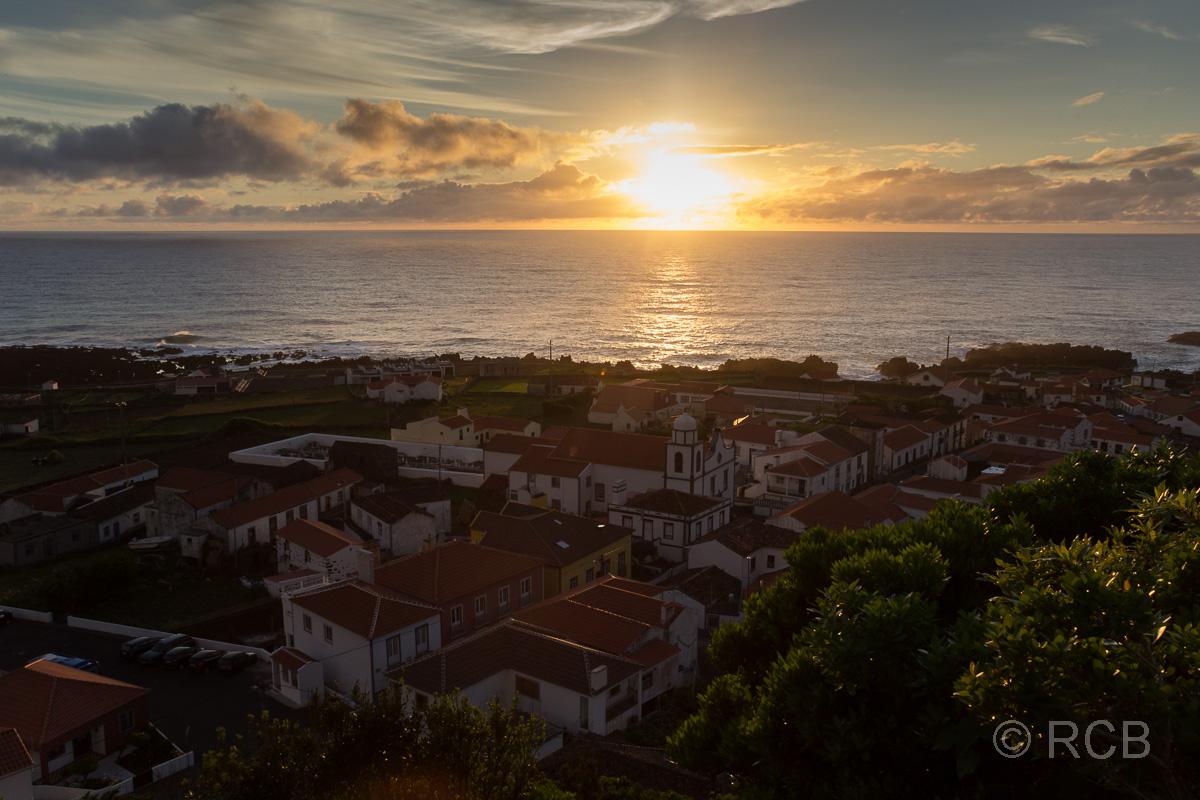 Sonnenuntergang bei Fajã Grande