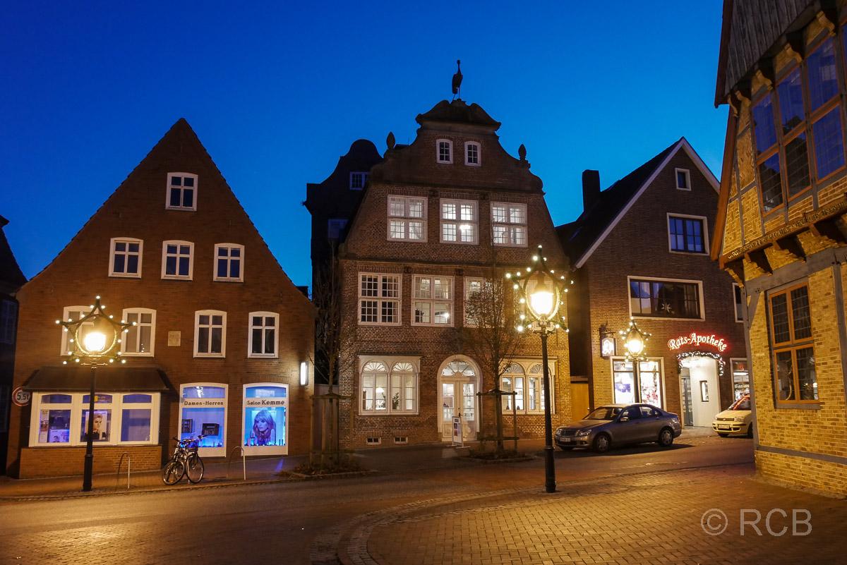 Kranichhaus, Otterndorf bei Nacht