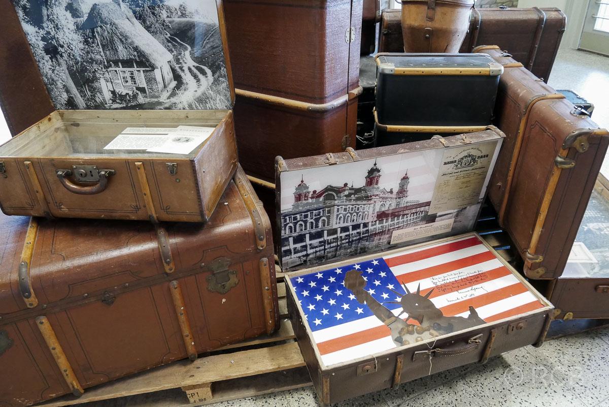 Koffer von Auswanderern, Hapag-Hallen, Cuxhaven