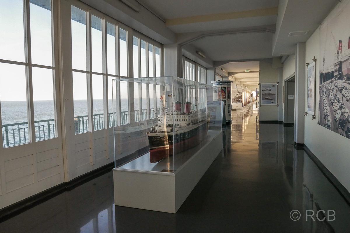 Kreuzfahrtschiffmodell, Hapag-Hallen, Cuxhaven