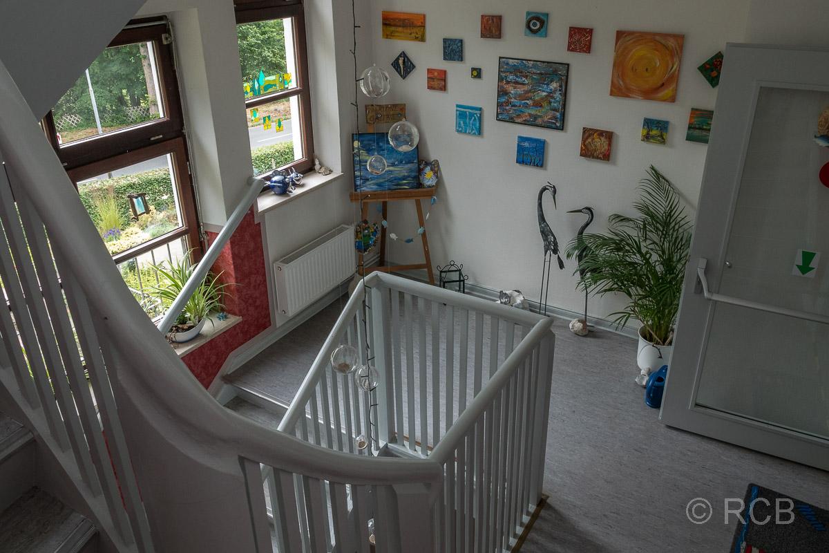 Kunst im Treppenhaus unserer Unterkunft
