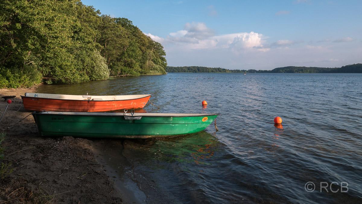 Boote am Ufer des Kellersees