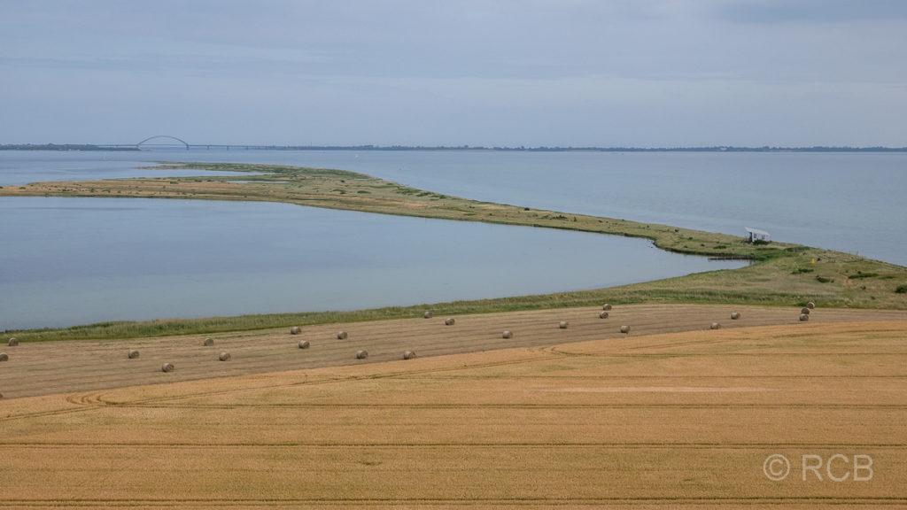 Blick vom Leuchtturm Flügge auf den Fehmarnsund