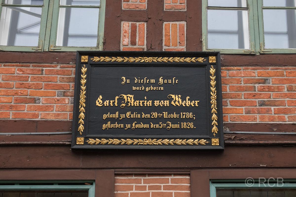 Eutin, Geburtshaus von Carl Maria von Weber