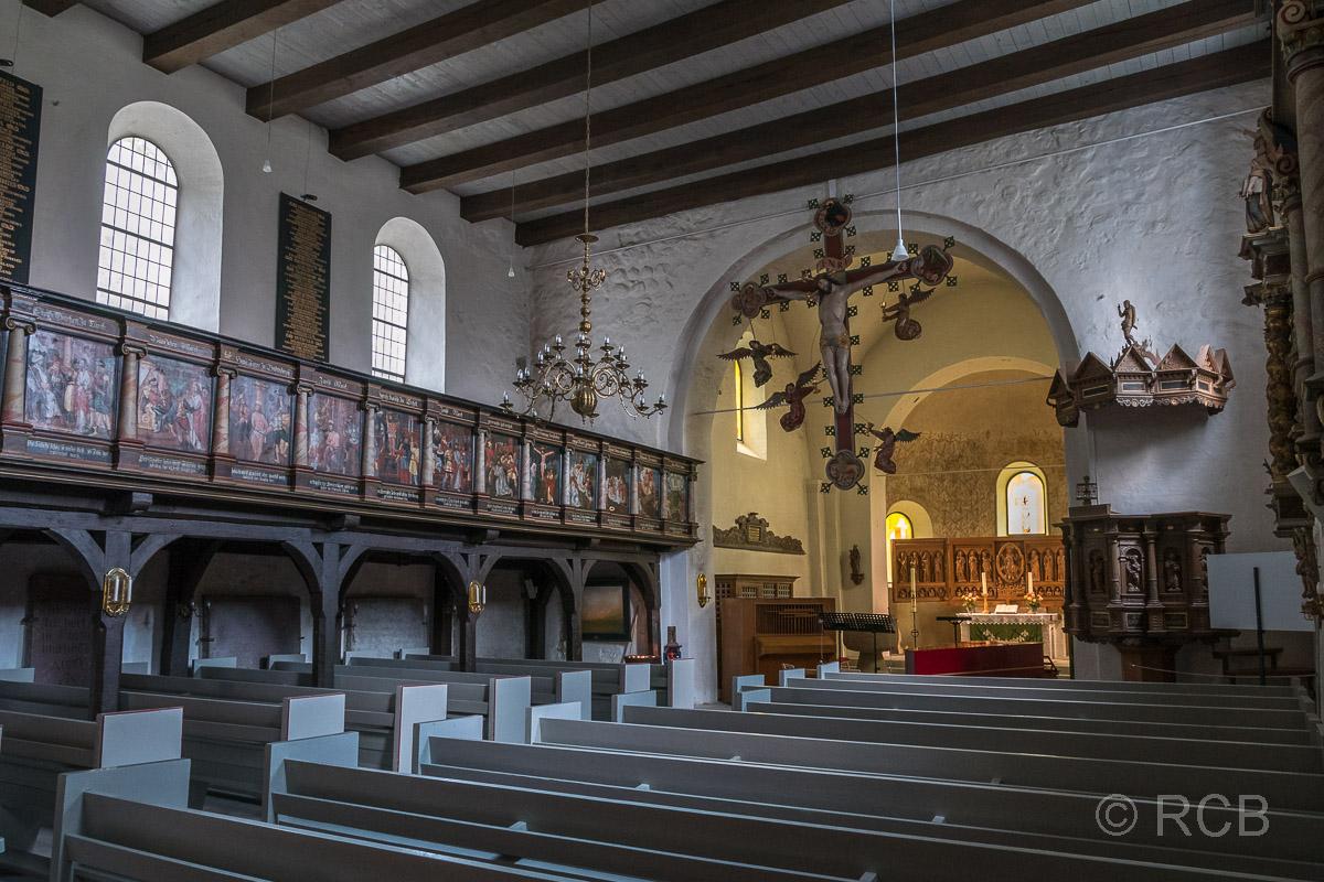 Bosau, Feldsteinkirche St. Petri, Kircheninneres