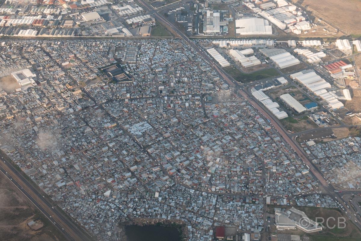 Kapstadt, Township aus der Luft