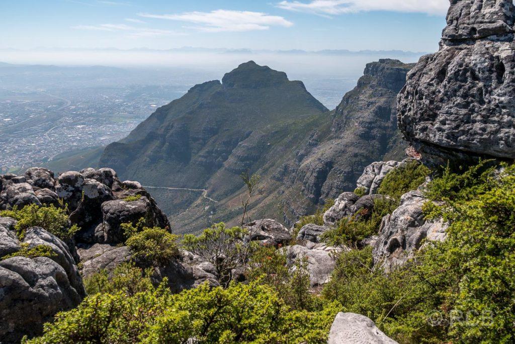 Blick vom Tafelberg zum Devil's Peak
