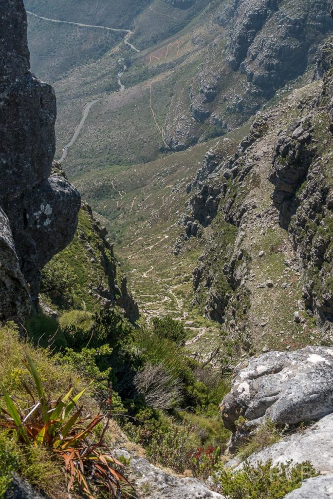Platteklip Gorge, die einfachste Aufstiegsroute auf den Tafelberg