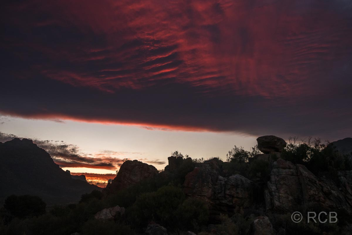 Sonnenuntergang in Kromrivier