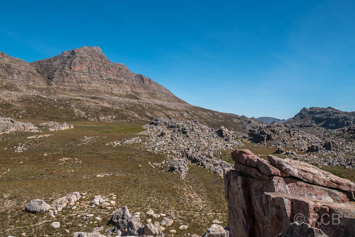 Blick zum Sneeuberg, dem höchsten Berg der Gegend