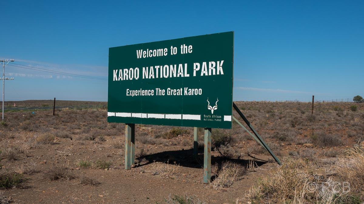 Einfahrtsschild zum Karoo National Park
