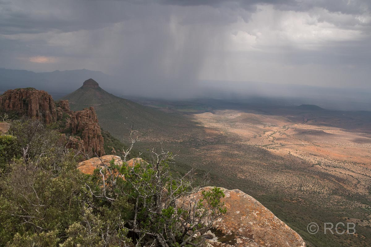 Unwetter über dem Valley of Desolation, Cambedoo NP