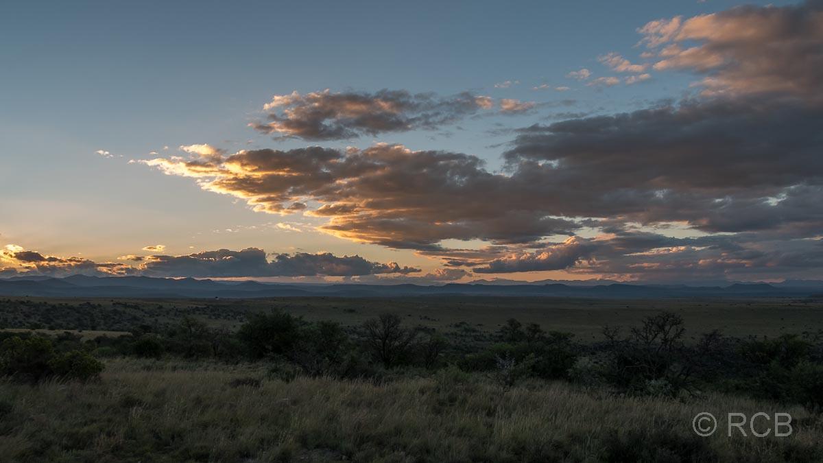 Sonnenuntergang im Mountain Zebra National Park