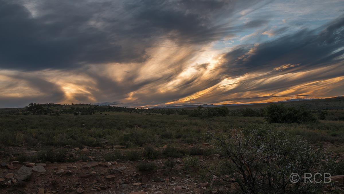 dramatische Abendwolken im Mountain Zebra National Park