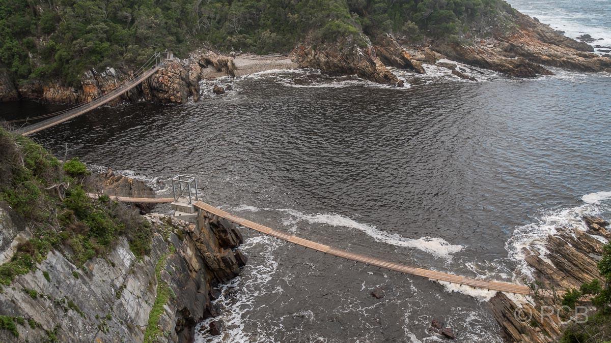 Hängebrücken am Storms River Mouth, Tsitsikamma Section des Garden Route National Park