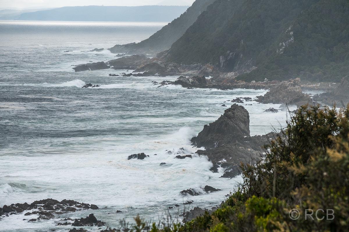 Blick über die Küste der Tsitsikamma Section des Garden Route National Park
