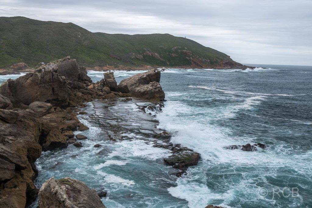 Blick zur Südküste der Robberg Peninsula