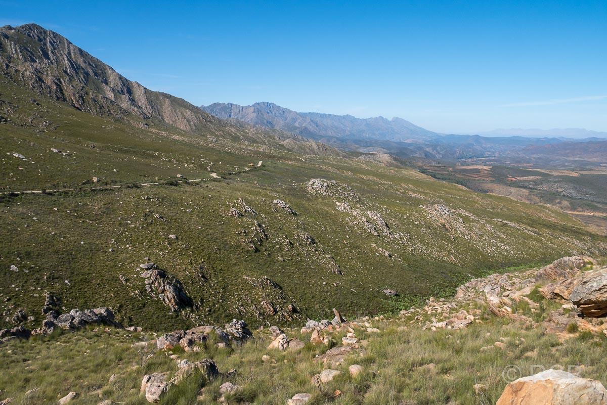 Landschaft an der Auffahrt zum Swartberg Pass