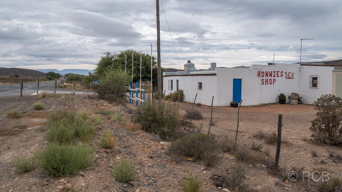 Gasthaus an der Route 62 mit dem selbstironischen Namen Ronnie's Sex Shop