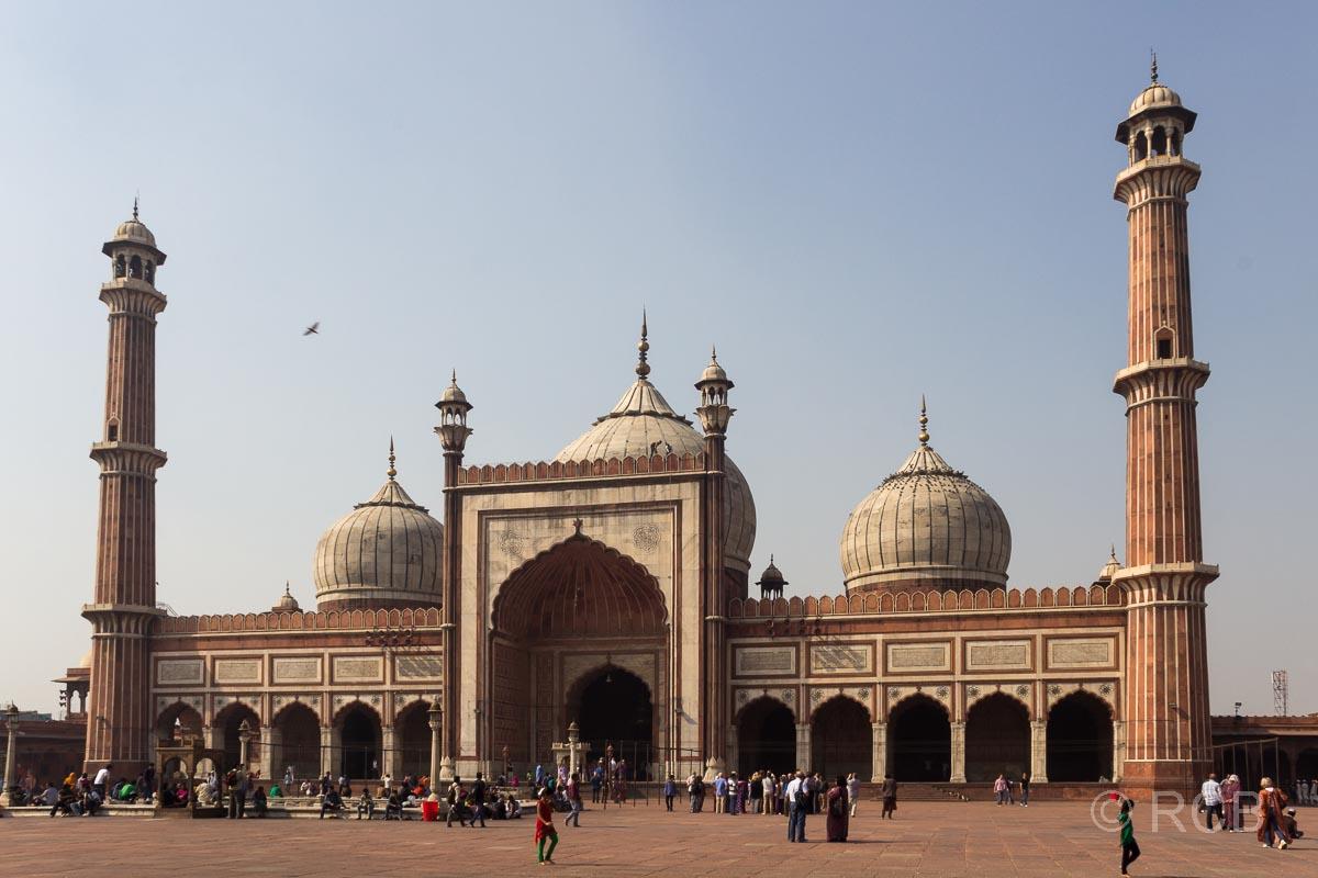 Hof der Freitagsmoschee, Delhi