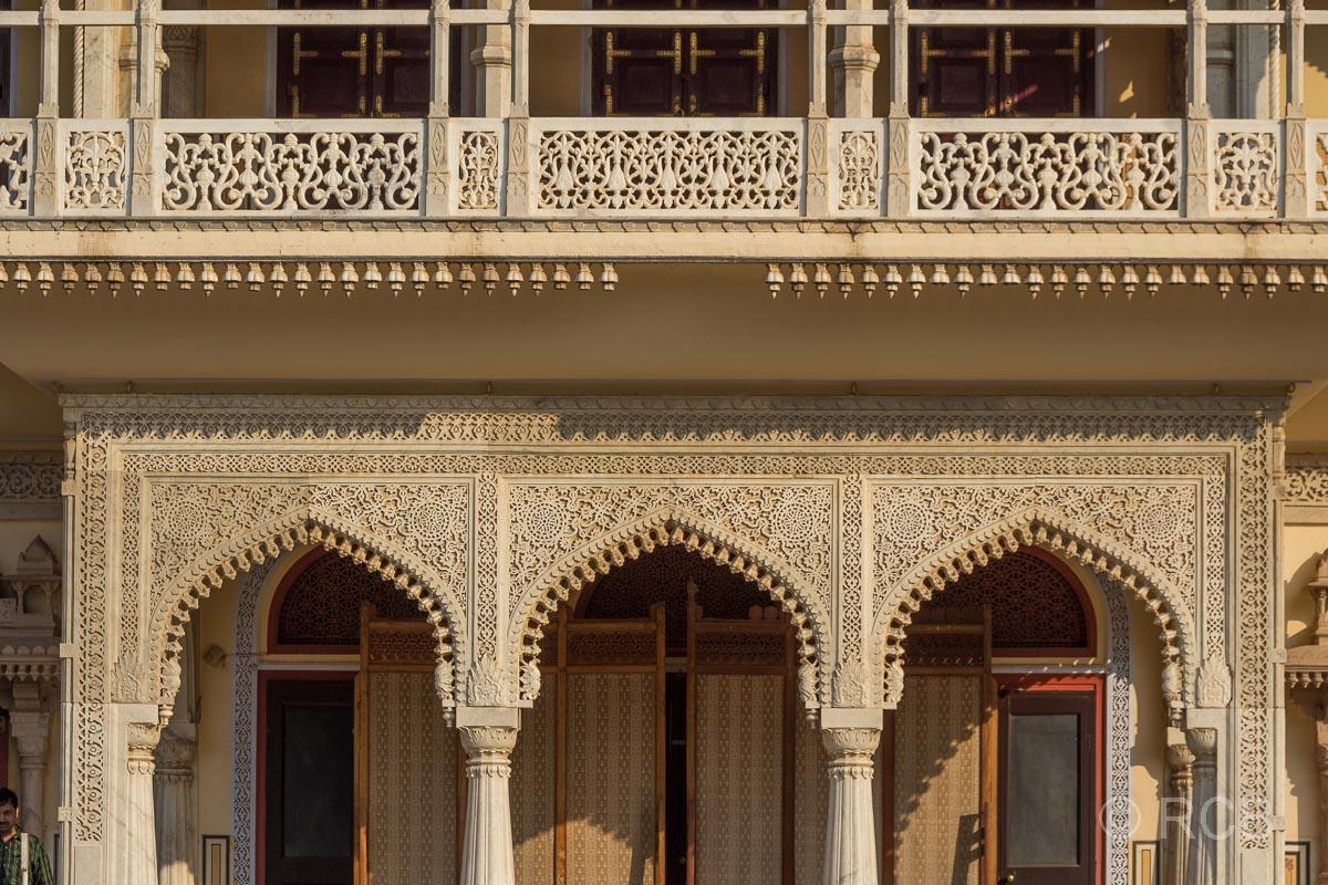 Jaipur, Stadtpalast, Detail am Mubarak Mahal