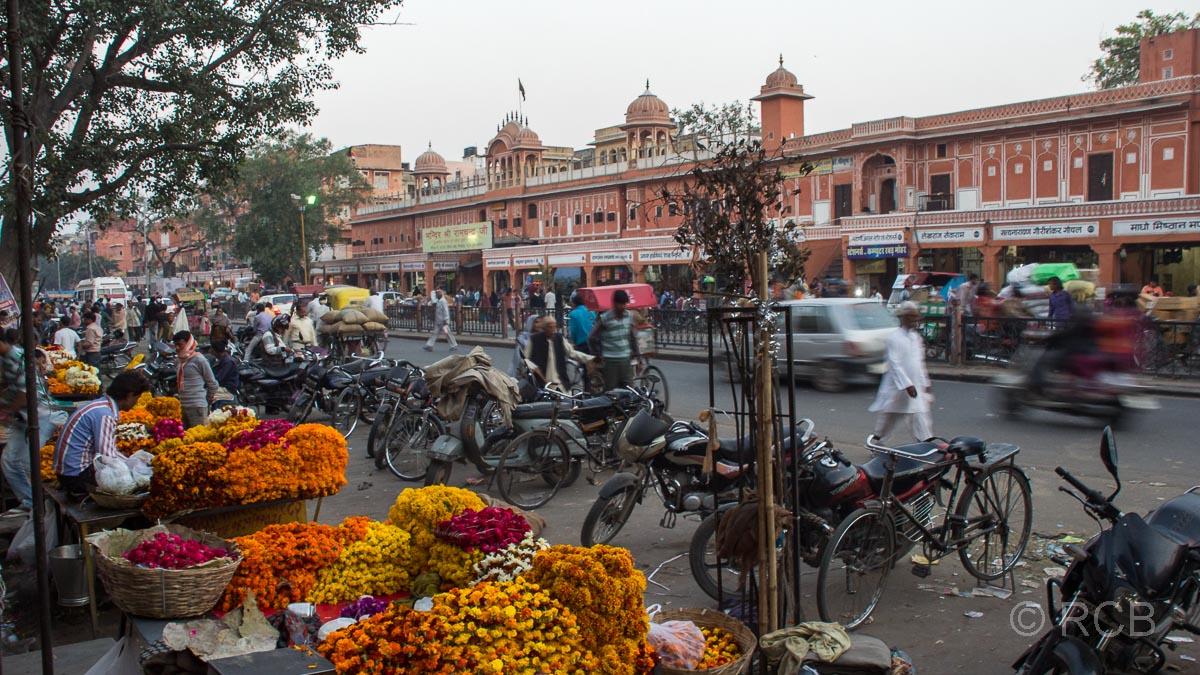 Blumenhändler, Jaipur, Altstadt