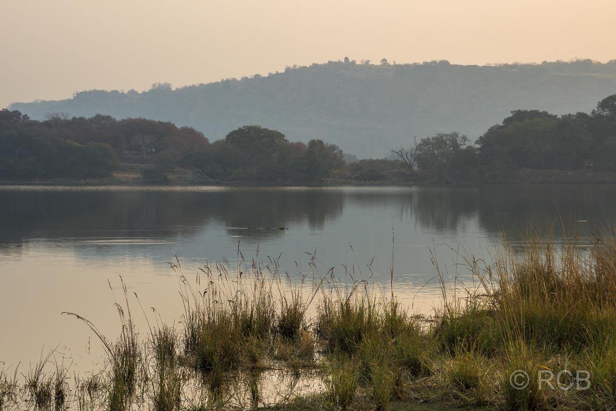Abendstimmung über einem See, Ranthambore National Park