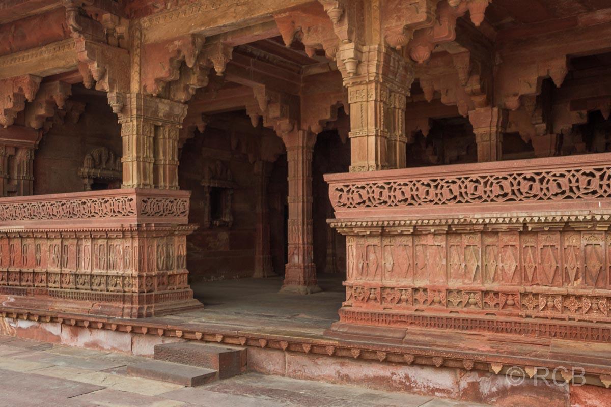 Fatehpur Sikri, Blick in einen offenen Raum