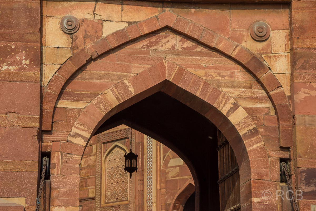 Agra, Rotes Fort, Detail am Eingangstor