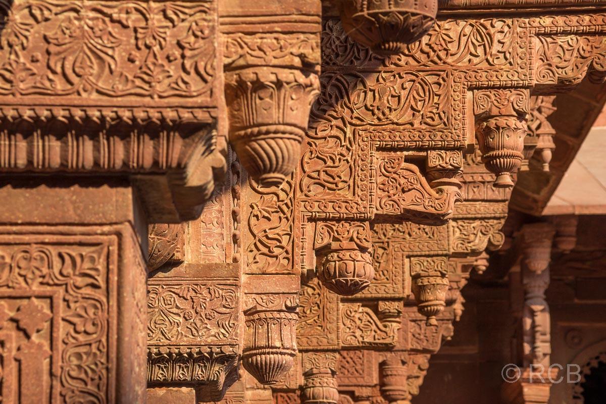 Agra, Rotes Fort, Detail am Palast von Jahangir