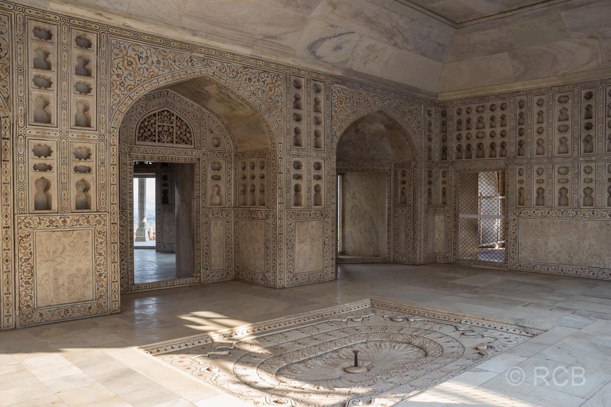 Agra, Rotes Fort, Marmorgemächer von Shah Jahan