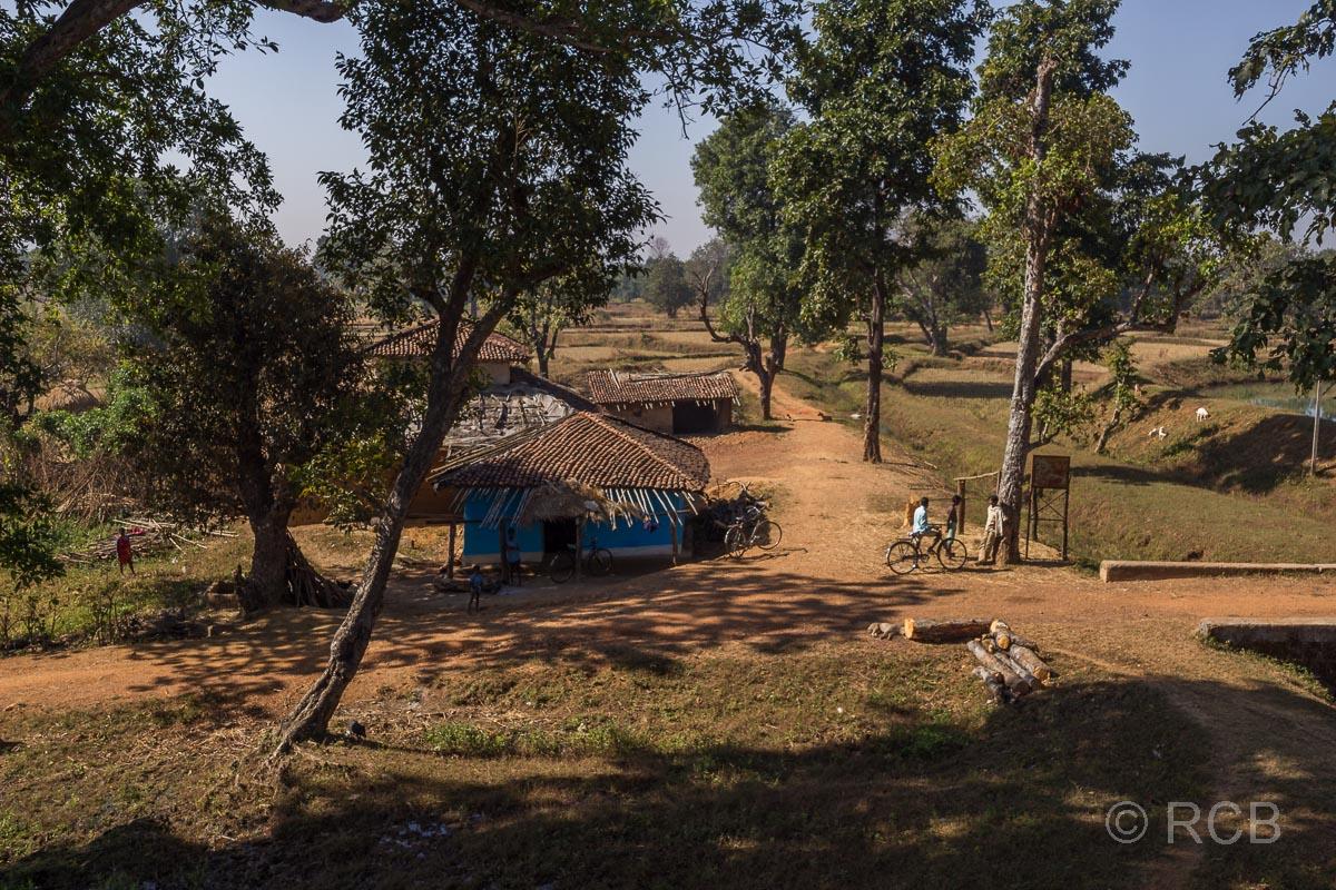 Dorfszene in der Nähe des Kanha National Park