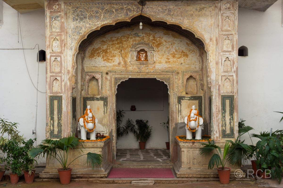Eingang zu einem Haveli in Jaipur