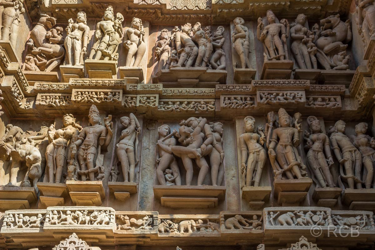Khajuraho, erotisches Tempelrelief
