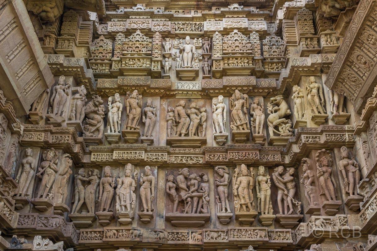 Khajuraho, Tempel-Relief