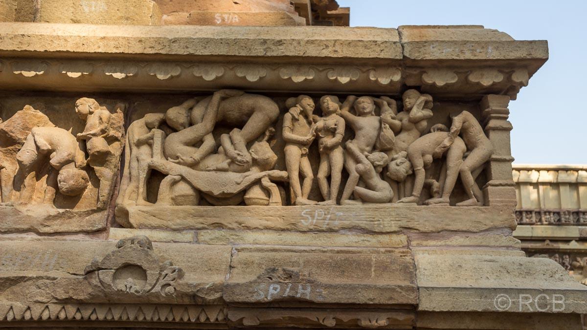 Khajuraho, Lakshmana-Tempel, Detail