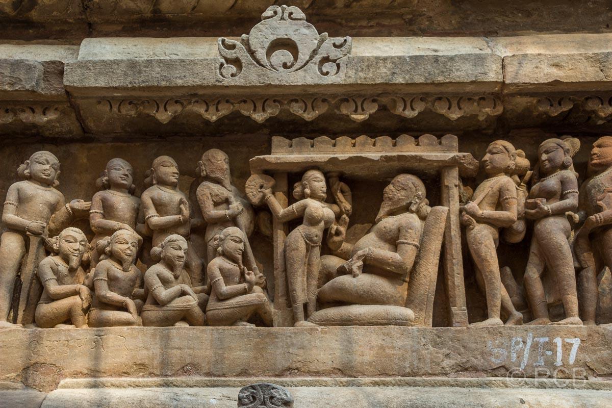 Khajuraho, Lakshmana-Tempel, Tempel-Relief