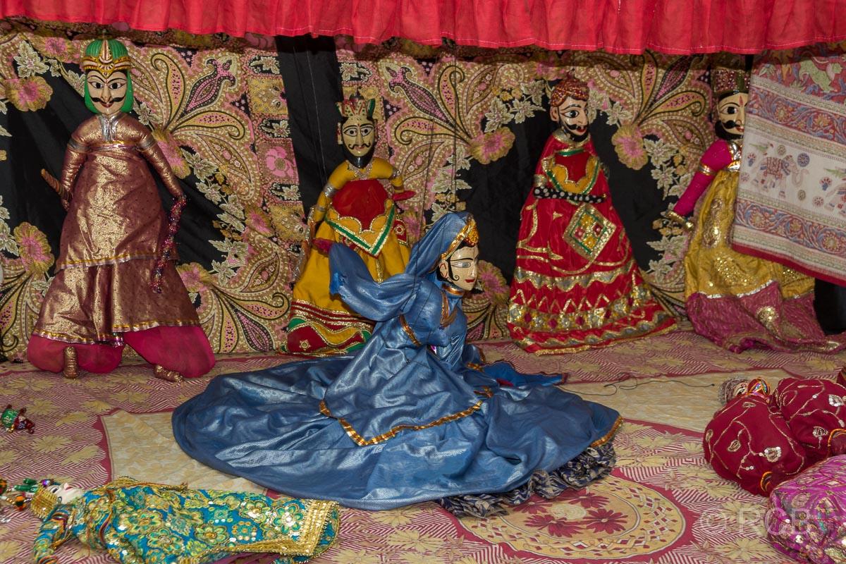 Marionettentheater in einem Haveli in Jaipur