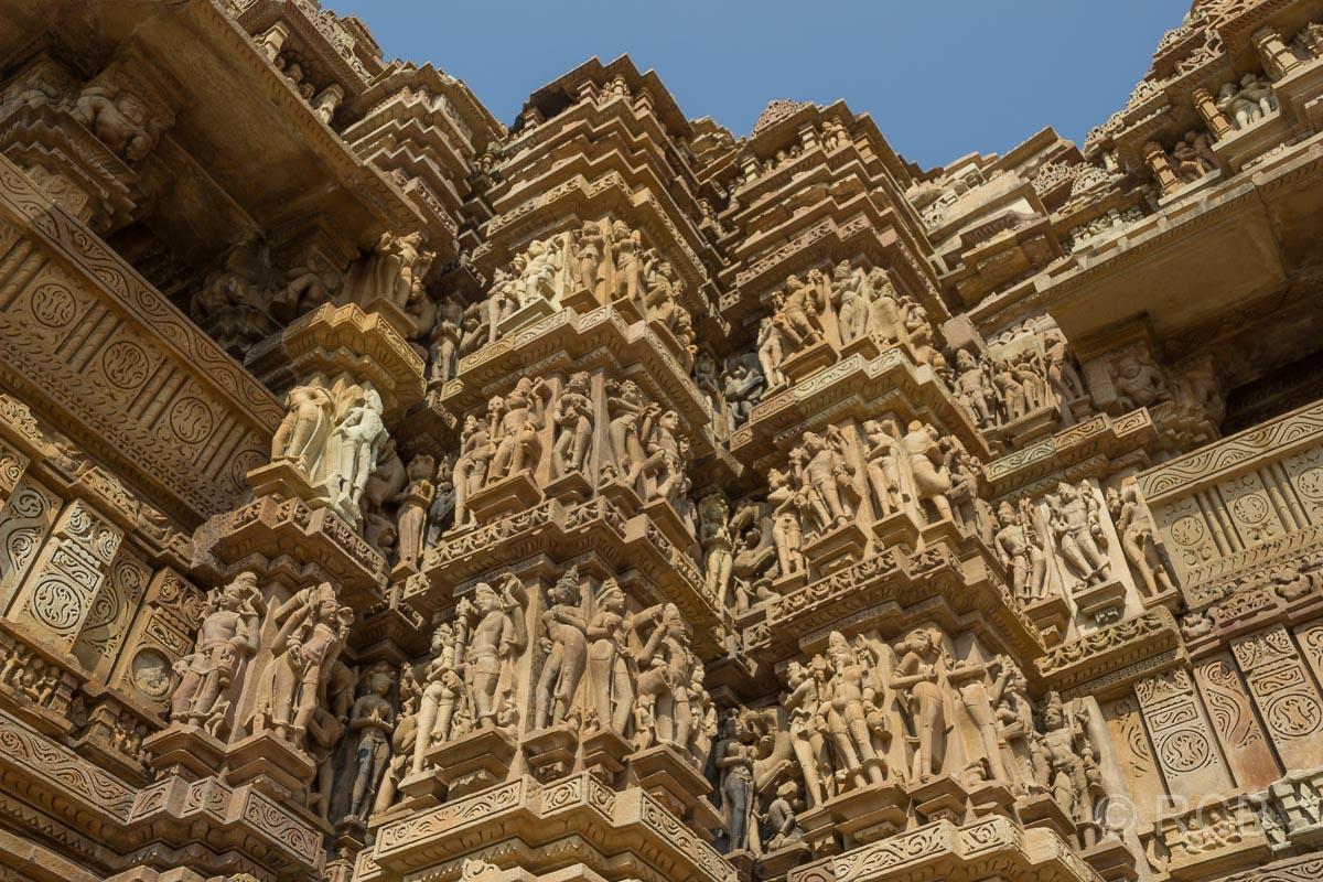 Khajuraho, Kandariya-Mahadeva-Tempel, Tempel-Relief