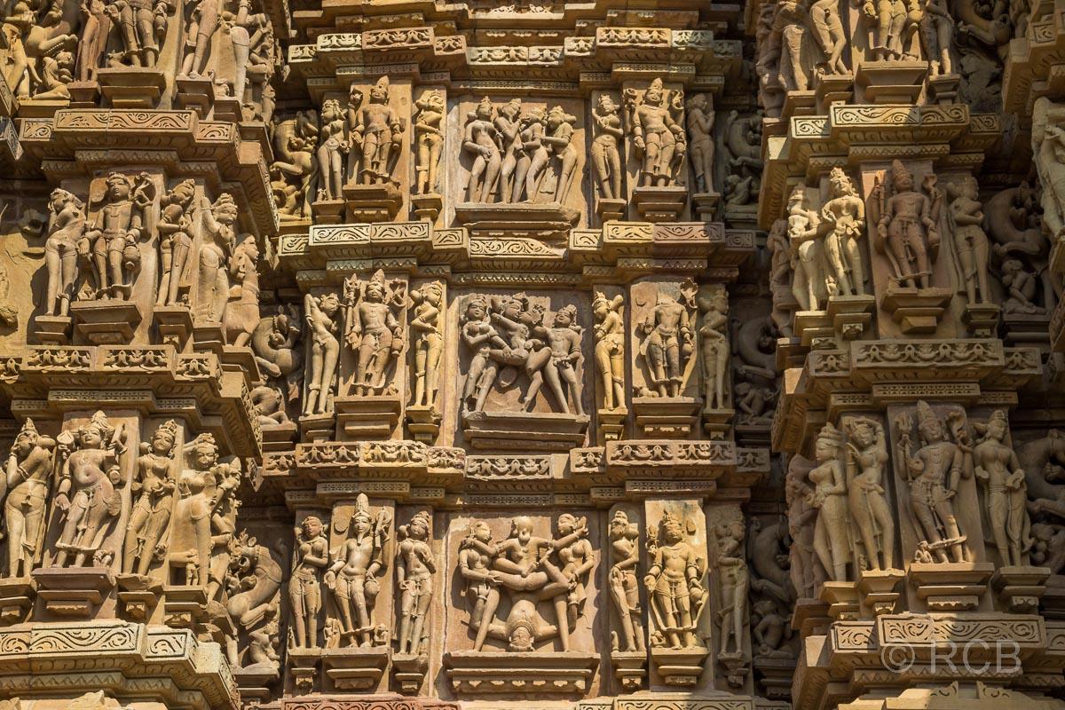 Khajuraho Tempel-Relief