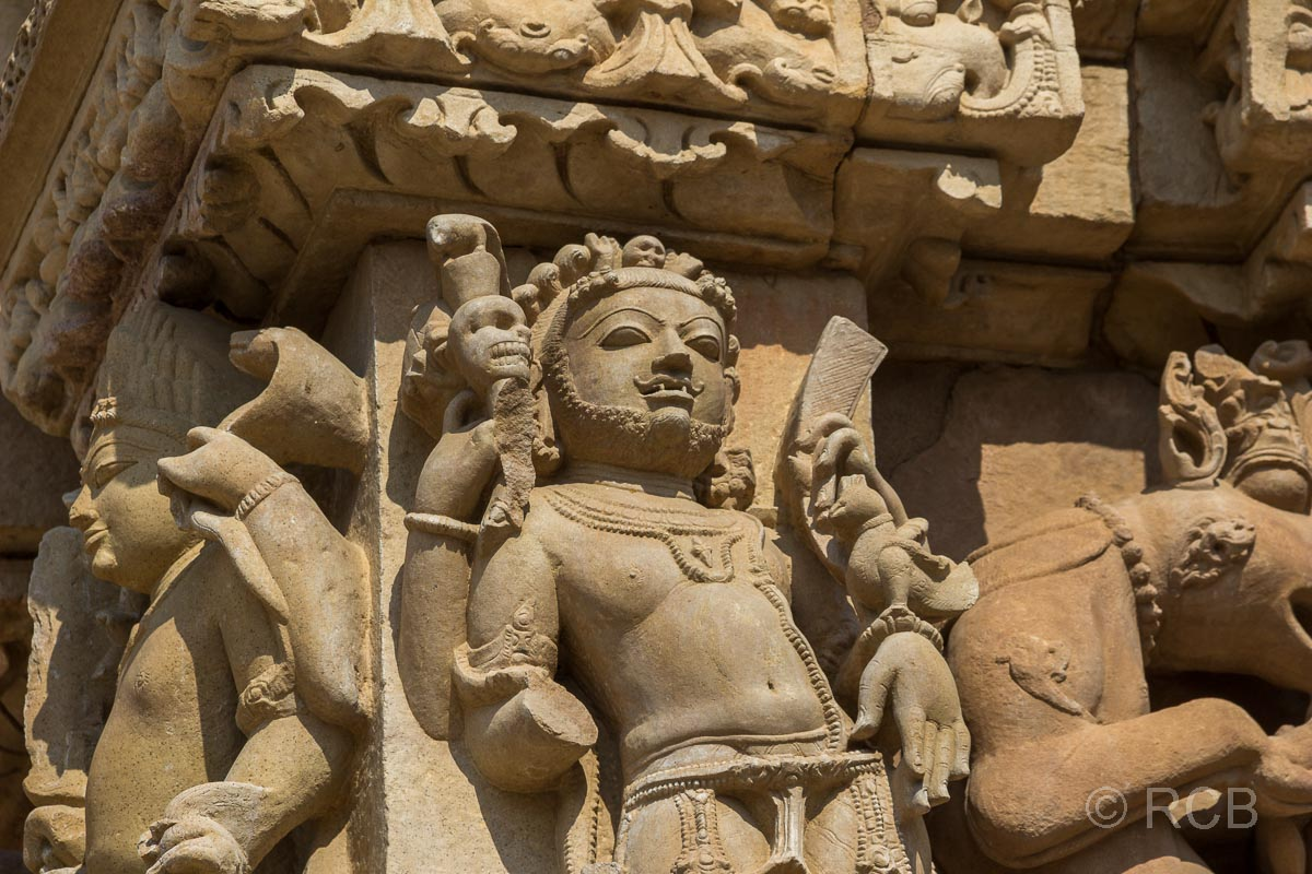 Khajuraho, Relief in der östlichen Gruppe