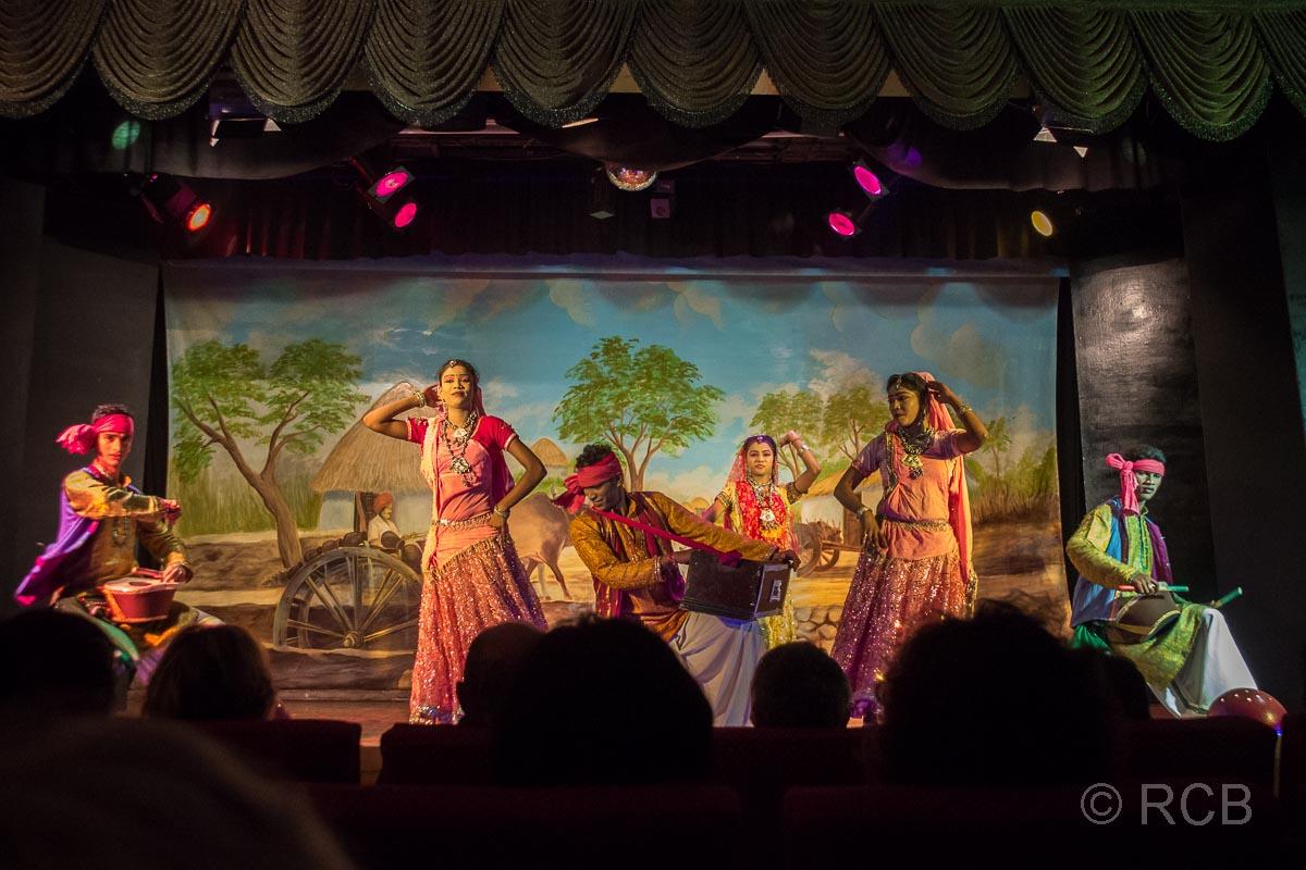 Khajuraho, abendliche Folklore-Show