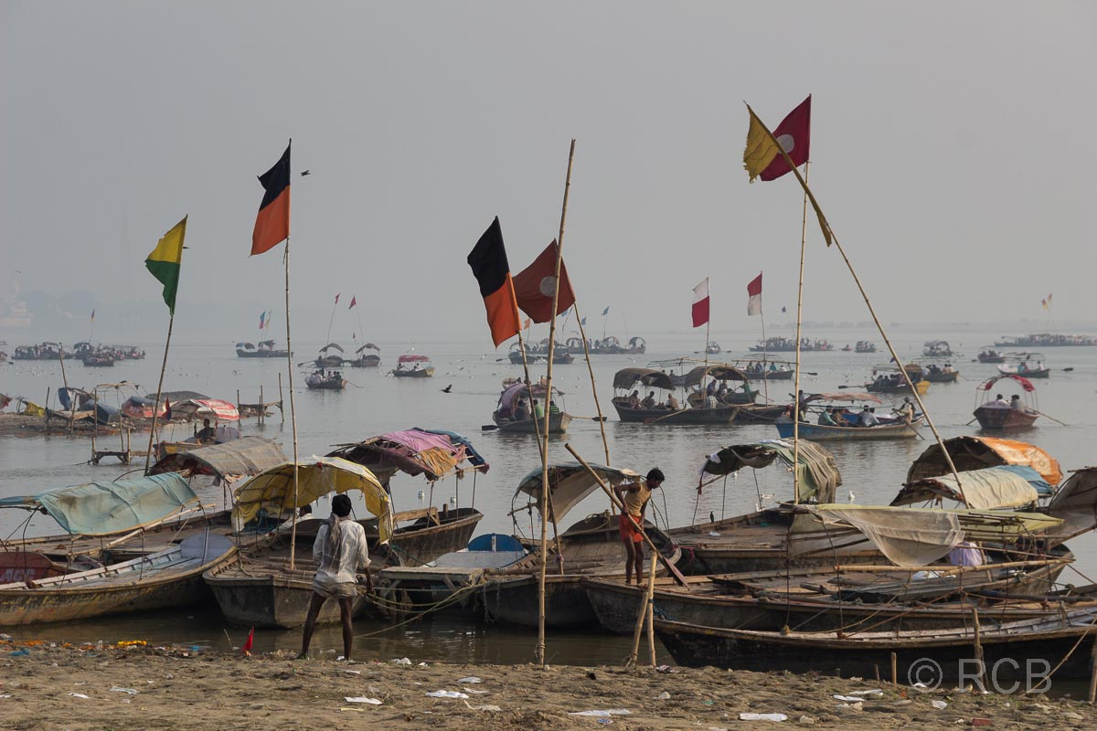Allahabad, am Sangam, dem Zusammenfluss von Ganges und Yamuna