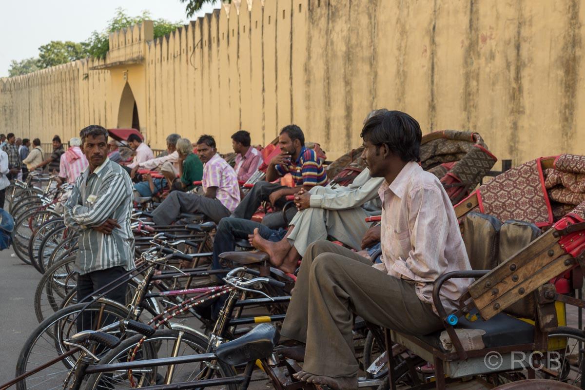 Fahrradrikschastand, Jaipur, Altstadt